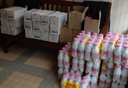 2ème livraison produits bébé aux Restos du Coeur de St Pol