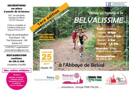 La Belvalissime le 25/11/2017 à l'Abbaye de Belval
