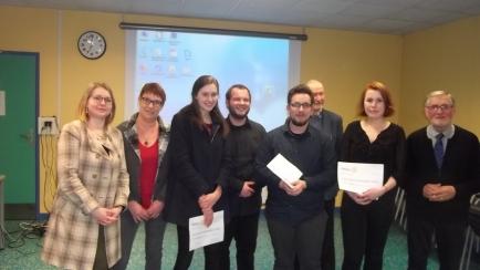 Les 3 gagnants et les membres du jury